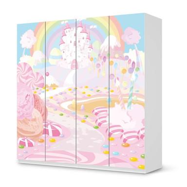 Klebefolie IKEA Pax Schrank 201cm Höhe - 4 Türen - Candyland- Bild 1