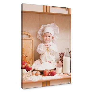 Leinwandbild Kleiner Bäcker - Bild 1