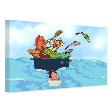 Leinwandbild Pettersson und Findus - Fischjagd mit Freunden