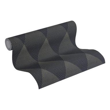 Livingwalls Vliestapete New Walls Tapete 50's Glam geometrisch grafisch schwarz, metallic