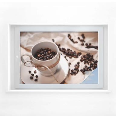 Sichtschutzfolie Kaffee Zauber