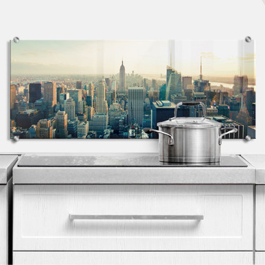 Spritzschutz Skyline von New York City - Panorama