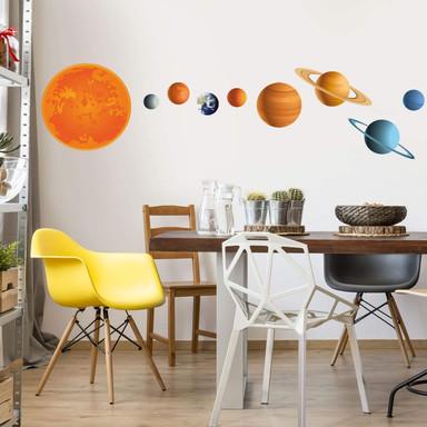 Wandsticker Sonnensystem