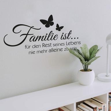 Wandtattoo Familie ist...