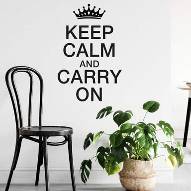Wandtattoo Keep Calm and Carry On
