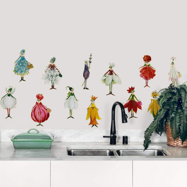 Wandtattoo Leffler - Blütenelfen Set