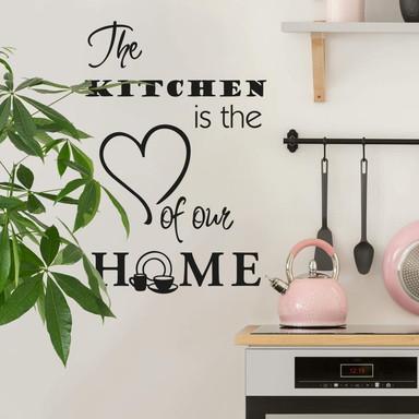 Wandtattoo The kitchen is...