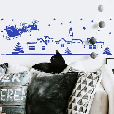 Wandtattoo Weihnachtslandschaft 2