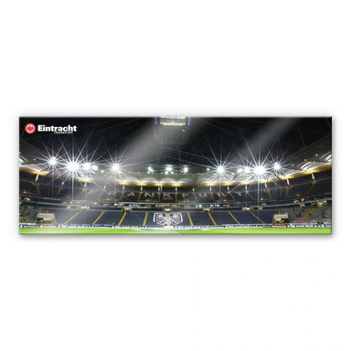 Acrylglasbild Eintracht Frankfurt Nacht - Panorama