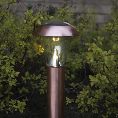 Erdspiessleuchte Napoli in kupfer, 360 mm, inkl. LED und Senor