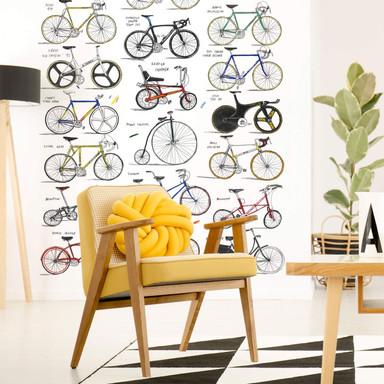 Fototapete Sparshott - Fahrräder - 192x260cm - Bild 1