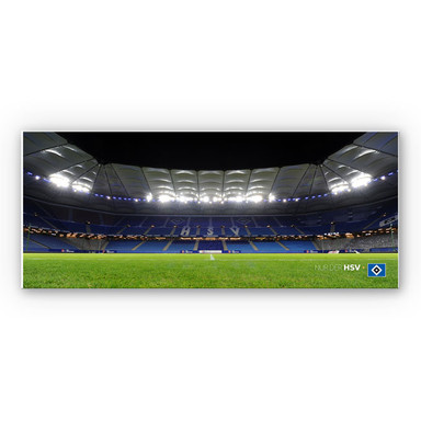 Hartschaumbild HSV Arena Nacht - Panorama