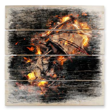 Holzbild Fireflight