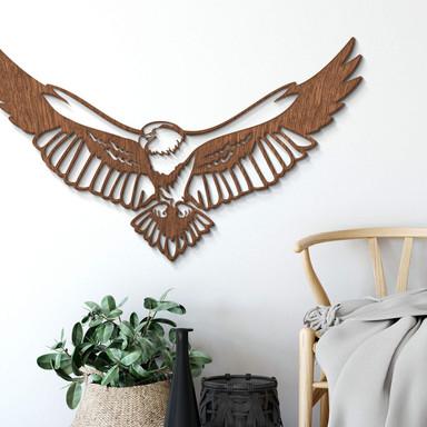 Holzkunst Mahagoni - Adler