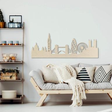 Holzkunst Pappel Furnier - Skyline London