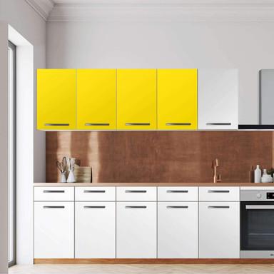 Klebefolie - Wandschrank 160cm Breite - Gelb Dark
