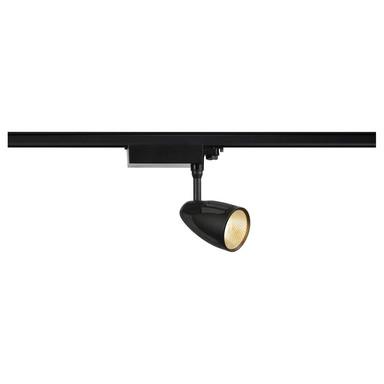 LED Spot für 3-Phasen Stromschiene, 3000 K, inkl. Adapter, schwarz