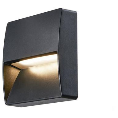 LED Wandeinbauleuchte Downunder Out 4.5W 3000K in Eckig