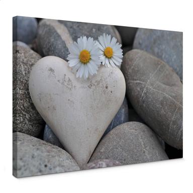 Leinwandbild Liebesblumen