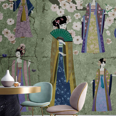 Livingwalls Fototapete Walls by Patel kimono 1 - Bild 1