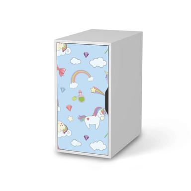 Möbelfolie IKEA Alex Schrank - Rainbow Unicorn