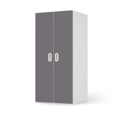 Möbelfolie IKEA Stuva / Fritids Schrank - 2 grosse Türen - Grau Light