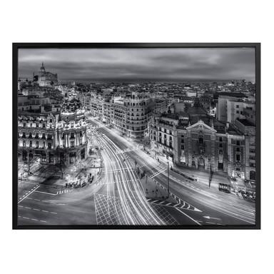 Poster Javier - Madrid bei Nacht