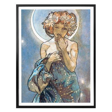 Poster Mucha - Sterne: Der Mond