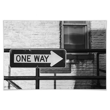 Poster Street Sign One way