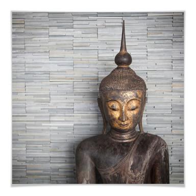 Poster Thailand Buddha - quadratisch