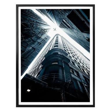 Poster Zwischen den Wolkenkratzern