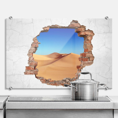 Spritzschutz 3D Optik - Wüstensand