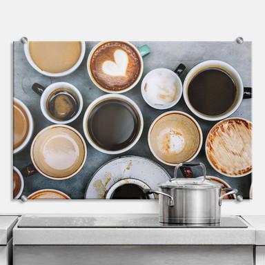 Spritzschutz Kaffee Variationen