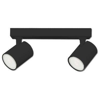 Wand- und Deckenleuchte GU10 Dual, IP20. schwarz matt, exkl. Leuchtmittel
