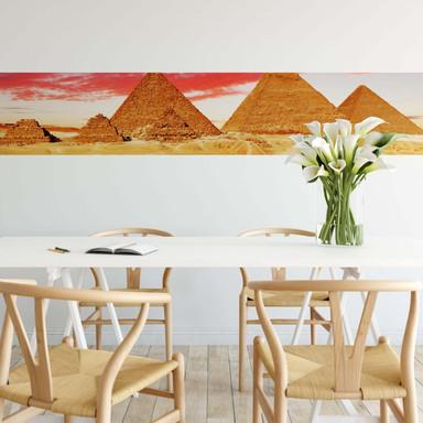 Fototapete Die Pyramiden von Gizeh - Panorama - 48x260cm - Bild 1