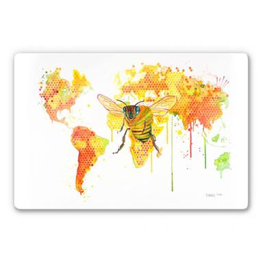 Glasbild Buttafly - Bees World