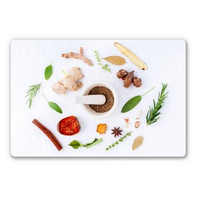 Glasbild Küchenkräuter