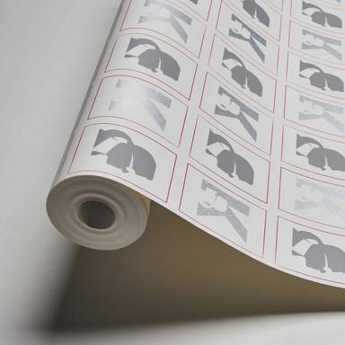Karl Lagerfeld Wallpaper Vliestapete Kameo grau, rot, weiss
