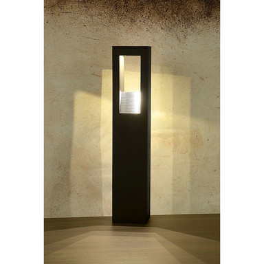 KARYE Pfahl IP54 LED3x1W H50 B10 L10cm Schwarz