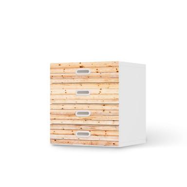 Klebefolie IKEA Stuva / Fritids Kommode - 4 Schubladen - Bright Planks- Bild 1