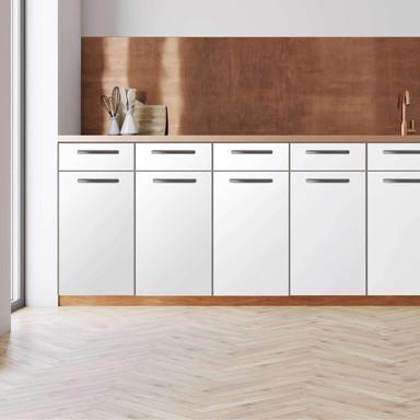 Küchenfolie - Unterschrank 80cm Breite - Weiss