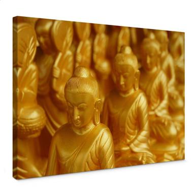 Leinwandbild Golden Buddha