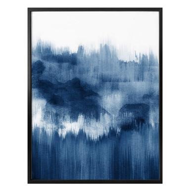 Poster Nouveauprints - Watercolour Brush Strokes (blau)