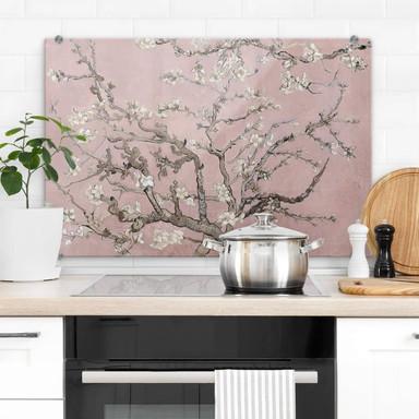 Spritzschutz van Gogh - Mandelblüte Rosé