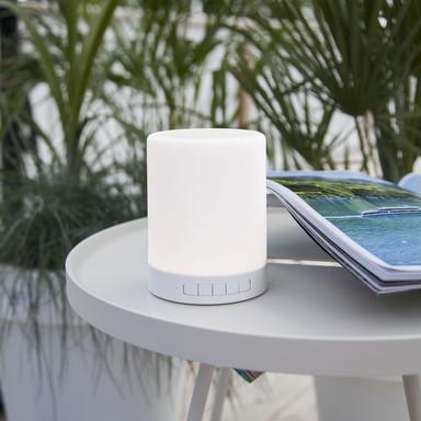 Tragbare LED Leuchte mit Bluetooth Lautsprecher RGBW