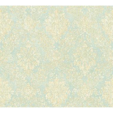 A.S. Création Tapete Secret Garden blau, creme, metallic