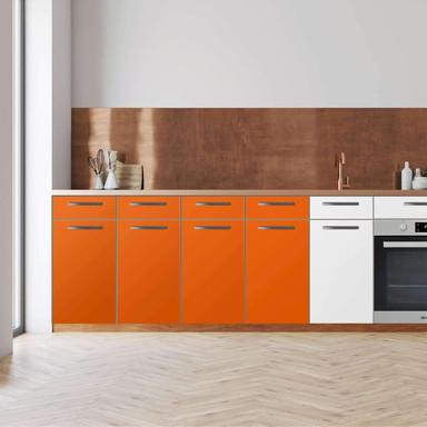 Küchenfolie - Unterschrank 160cm Breite - Orange Dark