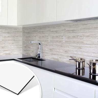 Küchenrückwand - Alu-Dibond - Shabby Chic Holz - Panorama