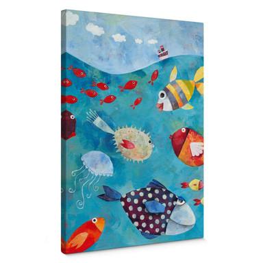 Leinwandbild Blanz - Fische im Meer