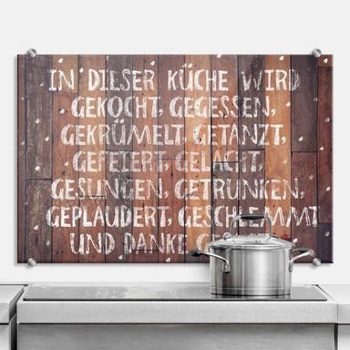 Spritzschutz - In dieser Küche wird danke gesagt